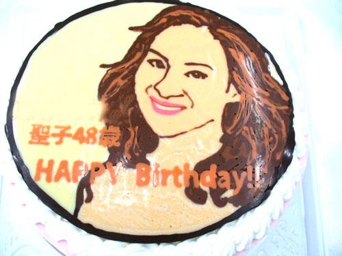 松田聖子イラストケーキ