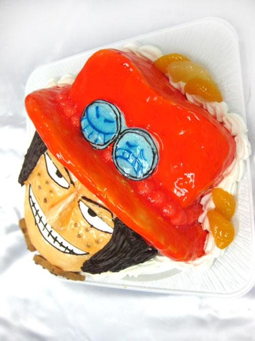 エースの立体ケーキ