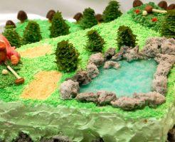 ゴルフ場のケーキ