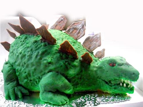 恐竜のケーキ
