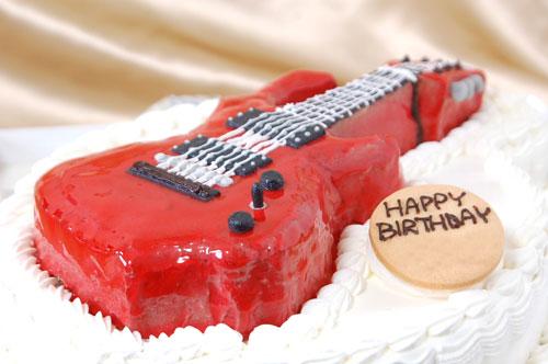 ギターの3Dケーキ