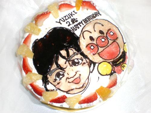 似顔絵ケーキ キャラクター