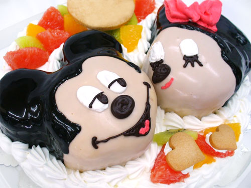 ミッキーマウスとミニーマウス バースデーケーキ
