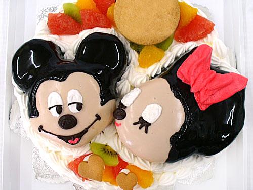 ミッキー&ミニーマウスのケーキ