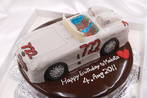 車のケーキ ゼッケンナンバー