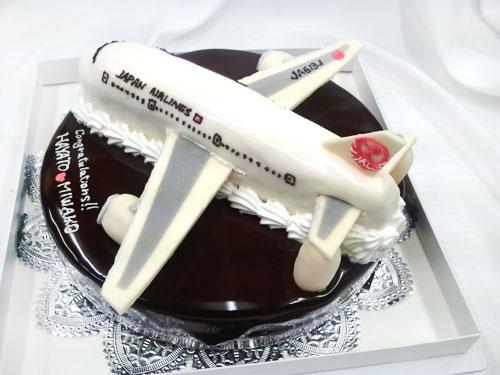 飛行機の3Dケーキ