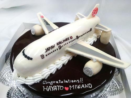 飛行機のケーキ 結婚式