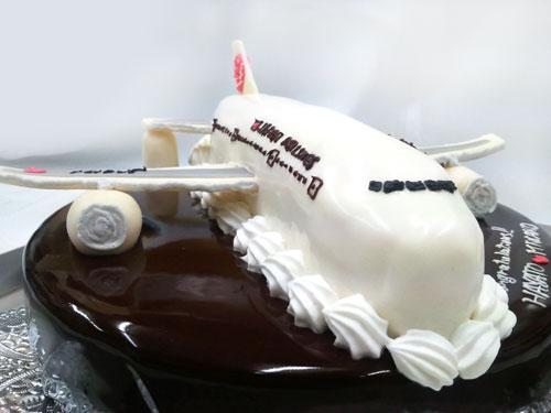 飛行機のケーキ3D