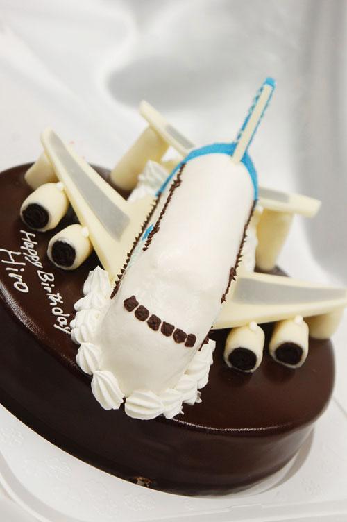 飛行機のケーキ