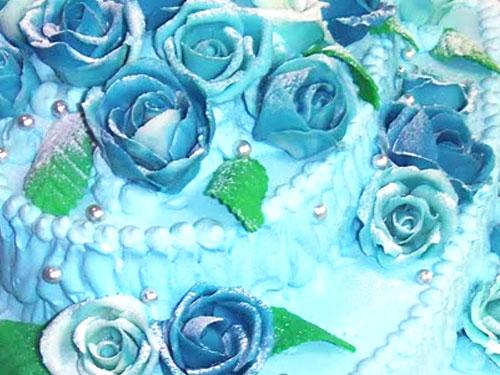 バラの花のケーキ