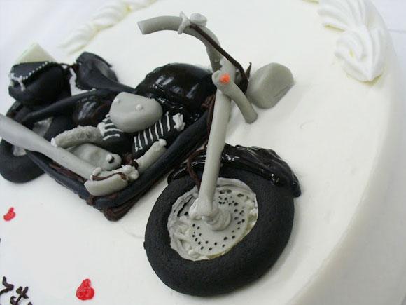 バイク 超立体ケーキ