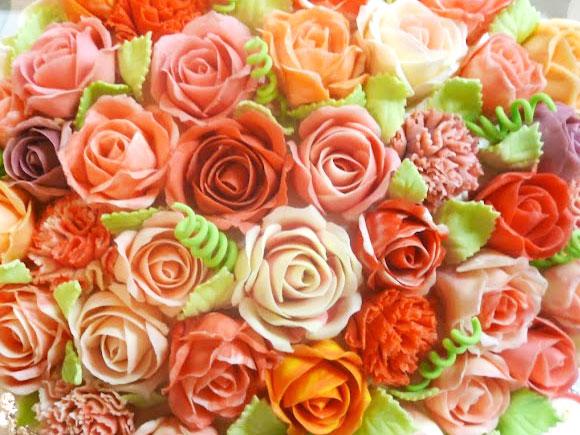 バラの花 ケーキ