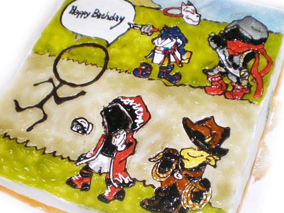 伝説のまもりびと イラストケーキ