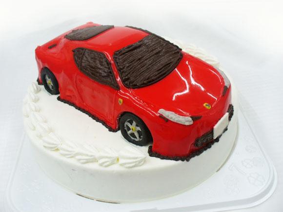 フェラーリ 車の3Dケーキ