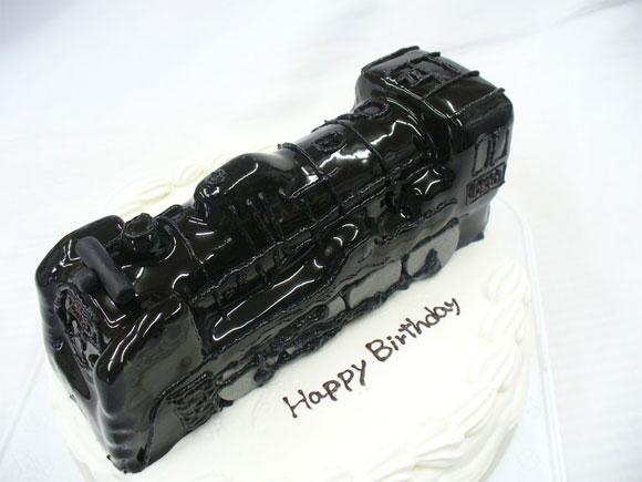 蒸気機関車 3Dケーキ
