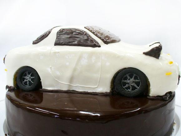 ロードスター 車の3Dケーキ