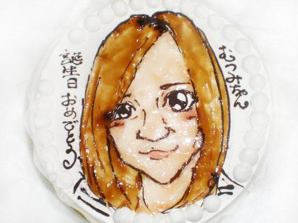 誕生日 似顔絵ケーキ