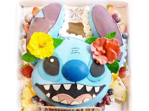 スティッチのケーキキャラクター立体ケーキ