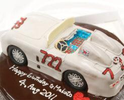 車のケーキ ベンツ300SLR