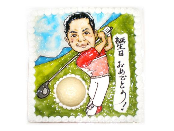 似顔絵ケーキ ゴルフ