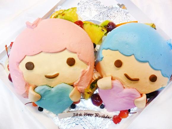 キキララケーキキキとララのキャラクター立体ケーキ 魔法の