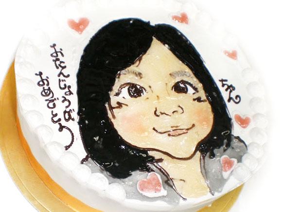 似顔絵ケーキ おたんじょうびおめでとう