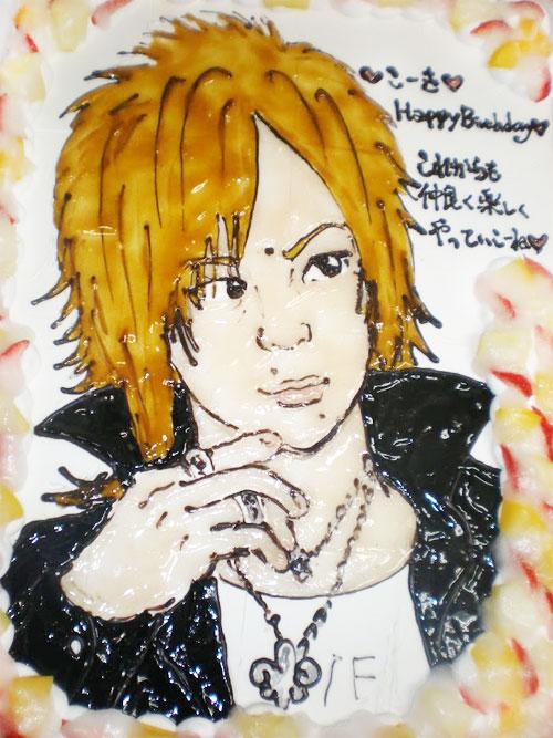 彼の似顔絵ケーキ