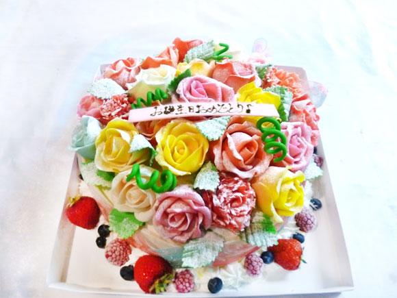 バラの花 3Dケーキ