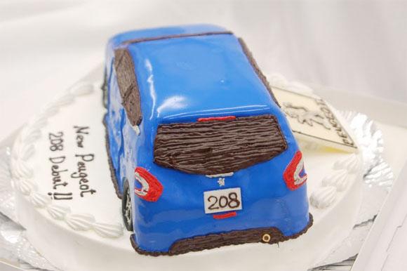 プジョー208オーダーケーキ