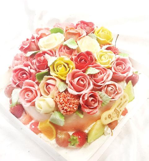 デコレーションケーキ バラ