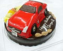 車のケーキ ベンツ3Dケーキ