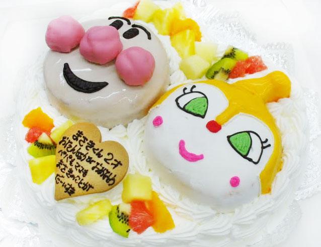 アンパンマンとドキンちゃんの誕生日ケーキ