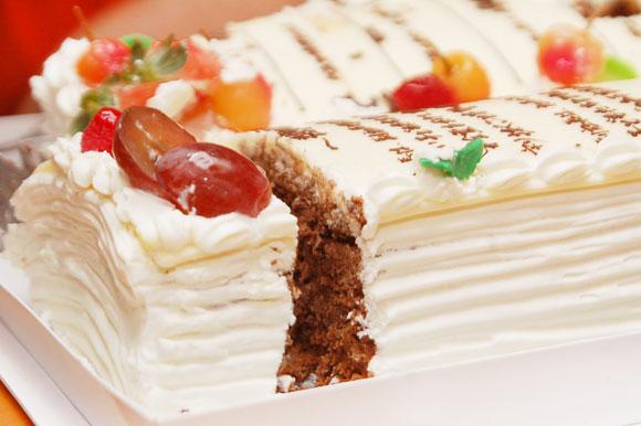 ケーキの中味