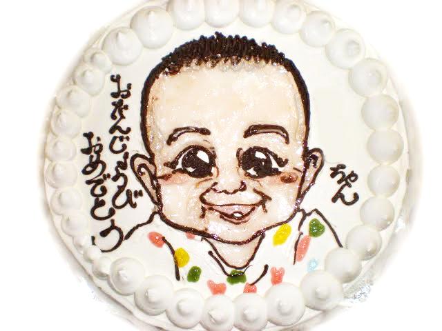 初誕生日の似顔絵ケーキ