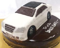 車のケーキ クラウン3Dケーキ