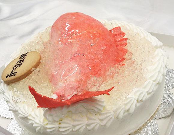 誕生日ケーキ 魚 鯛
