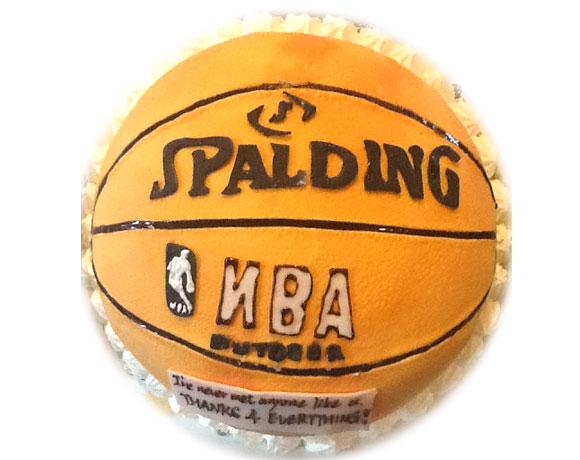 バスケットボール 3Dケーキ