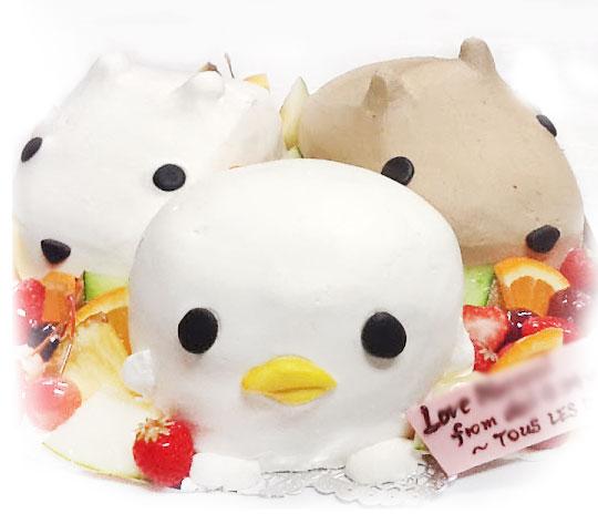かぴばらさんたちの誕生日ケーキ