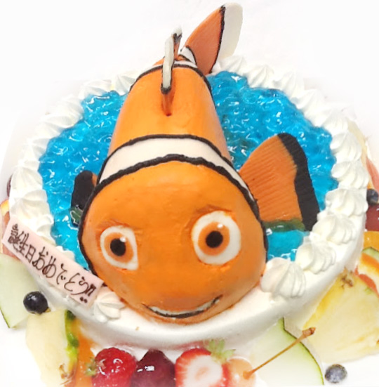 3Dケーキ キャラクター ファインディングニモ