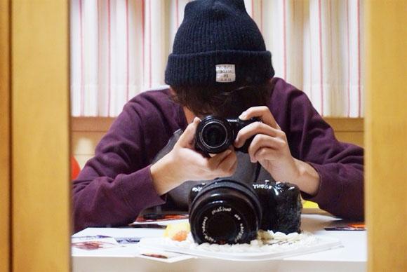 誕生日ケーキ カメラ
