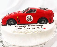フェラーリ250GT 車のバースデーケーキ