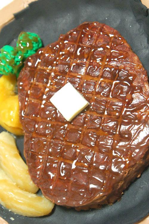 3Dケーキ ステーキ