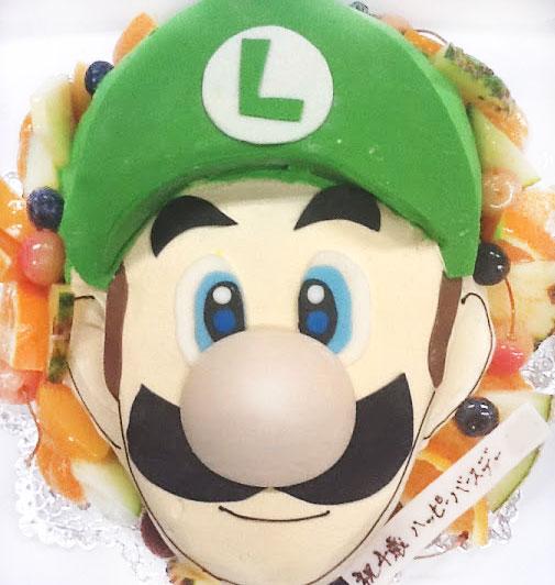 スーパーマリオ・ルイージの立体キャラクターケーキ