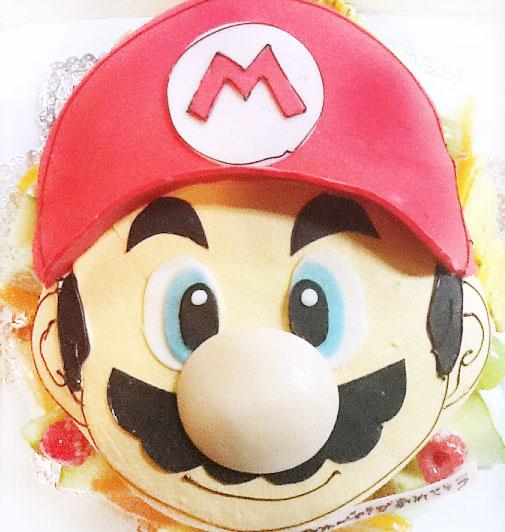 スーパーマリオの誕生日ケーキ