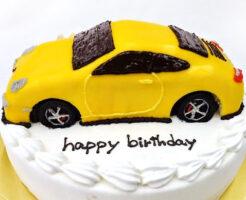 ポルシェ911車のケーキ