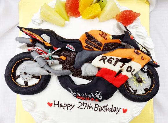 誕生日ケーキ バイク