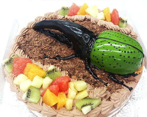 誕生日ケーキ カブト虫