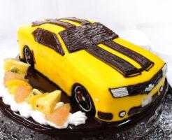 シボレーカマロ車のケーキ