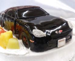車のケーキ コルベットC6
