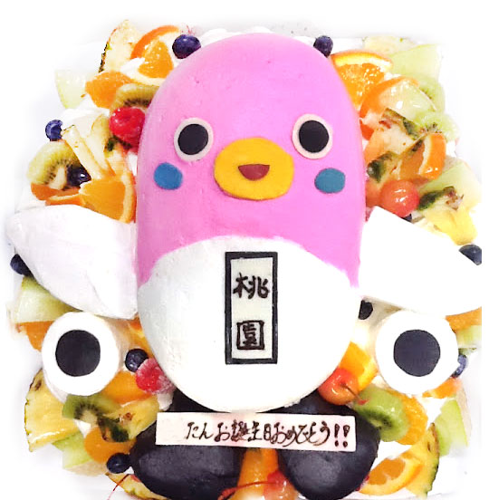 うなりくん(ピンクバージョン) ゆるキャラケーキ